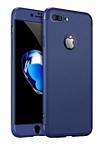 Eiroo Protect Fit iPhone 7 Plus / 8 Plus 360 Derece Koruma Lacivert Rubber Kılıf