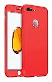 Eiroo Protect Fit iPhone 7 Plus / 8 Plus 360 Derece Koruma Kırmızı Rubber Kılıf