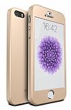 Eiroo Protect Fit iPhone SE / 5 / 5S 360 Derece Koruma Gold Rubber Kılıf