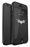 Eiroo Protect Fit iPhone SE / 5 / 5S 360 Derece Koruma Siyah Kılıf