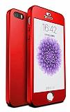 Eiroo Protect Fit iPhone SE / 5 / 5S 360 Derece Koruma Kırmızı Kılıf