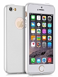 Eiroo Protect Fit iPhone SE / 5 / 5S 360 Derece Koruma Silver Rubber Kılıf