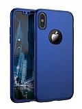 Eiroo Protect Fit iPhone X 360 Derece Koruma Mavi Rubber Kılıf