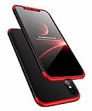 Eiroo Protect Fit iPhone X 360 Derece Koruma Siyah-Kırmızı Rubber Kılıf