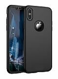 Eiroo Protect Fit iPhone X 360 Derece Koruma Siyah Rubber Kılıf