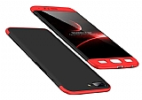Eiroo Protect Fit OnePlus 5 360 Derece Koruma Siyah-Kırmızı Rubber Kılıf