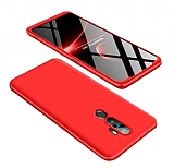 Eiroo Protect Fit Oppo A5 2020 360 Derece Koruma Kırmızı Rubber Kılıf