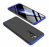 Eiroo Protect Fit Oppo A9 2020 360 Derece Koruma Lacivert-Siyah Rubber Kılıf