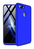 Eiroo Protect Fit Oppo AX7 / Oppo A5s 360 Derece Koruma Lacivert Rubber Kılıf