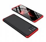 Zore GKK Ays Oppo Reno4 Lite 360 Derece Koruma Kırmızı-Siyah Rubber Kılıf