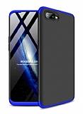 Eiroo Protect Fit Oppo RX17 Neo 360 Derece Koruma Lacivert-Siyah Rubber Kılıf
