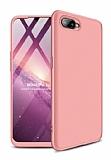 Eiroo Protect Fit Oppo RX17 Neo 360 Derece Koruma Rose Gold Rubber Kılıf