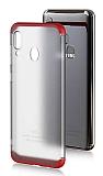 Eiroo Protect Fit Samsung Galaxy A20 / A30 360 Derece Koruma Şeffaf Kırmızı Rubber Kılıf