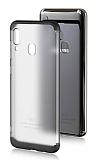 Eiroo Protect Fit Samsung Galaxy A20 / A30 360 Derece Koruma Şeffaf Siyah Rubber Kılıf