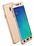 Eiroo Protect Fit Samsung Galaxy A7 2016 360 Derece Koruma Gold Rubber Kılıf
