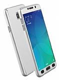 Eiroo Protect Fit Samsung Galaxy A7 2016 360 Derece Koruma Silver Rubber Kılıf