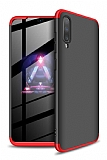 Eiroo Protect Fit Samsung Galaxy A70 360 Derece Koruma Siyah-Kırmızı Rubber Kılıf