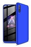 Eiroo Protect Fit Samsung Galaxy A70 360 Derece Koruma Mavi Rubber Kılıf