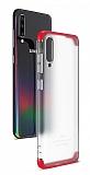 Eiroo Protect Fit Samsung Galaxy A70 360 Derece Koruma Şeffaf Kırmızı Rubber Kılıf