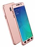 Eiroo Protect Fit Samsung Galaxy C7 Pro 360 Derece Koruma Rose Gold Rubber Kılıf