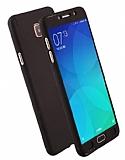 Eiroo Protect Fit Samsung Galaxy C7 Pro 360 Derece Koruma Siyah Rubber Kılıf
