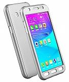 Eiroo Protect Fit Samsung Galaxy Grand Prime / Prime Plus 360 Derece Koruma Silver Rubber Kılıf