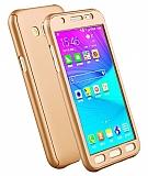 Eiroo Protect Fit Samsung Galaxy J5 360 Derece Koruma Gold Rubber Kılıf