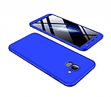 Eiroo Protect Fit Samsung Galaxy J6 360 Derece Koruma Lacivert Rubber Kılıf