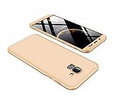 Eiroo Protect Fit Samsung Galaxy J6 360 Derece Koruma Gold Rubber Kılıf