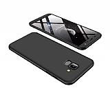 Eiroo Protect Fit Samsung Galaxy J6 360 Derece Koruma Siyah Rubber Kılıf