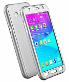 Eiroo Protect Fit Samsung Galaxy J7 / Galaxy J7 Core 360 Derece Koruma Silver Rubber Kılıf