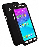 Eiroo Protect Fit Samsung Galaxy J7 360 Derece Koruma Siyah Rubber Kılıf