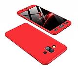 Eiroo Protect Fit Samsung Galaxy J7 Duo 360 Derece Koruma Kırmızı Rubber Kılıf