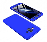 Eiroo Protect Fit Samsung Galaxy J7 Duo 360 Derece Koruma Lacivert Rubber Kılıf
