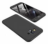 Eiroo Protect Fit Samsung Galaxy J7 Duo 360 Derece Koruma Siyah Rubber Kılıf