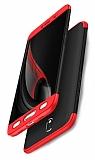 Zore GKK Ays Samsung Galaxy J7 Pro 2017 360 Derece Koruma Siyah-Kırmızı Rubber Kılıf