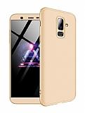 Eiroo Protect Fit Samsung Galaxy J8 360 Derece Koruma Gold Rubber Kılıf