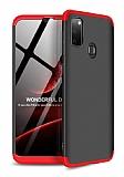 Eiroo Protect Fit Samsung Galaxy M30S 360 Derece Koruma Kırmızı-Siyah Rubber Kılıf