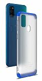 Eiroo Protect Fit Samsung Galaxy M30S 360 Derece Koruma Şeffaf Lacivert Rubber Kılıf