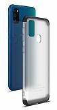 Eiroo Protect Fit Samsung Galaxy M30S 360 Derece Koruma Şeffaf Siyah Rubber Kılıf