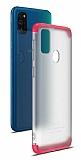 Eiroo Protect Fit Samsung Galaxy M30S 360 Derece Koruma Şeffaf Kırmızı Rubber Kılıf