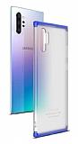 Eiroo Protect Fit Samsung Galaxy Note 10 Plus 360 Derece Koruma Şeffaf Lacivert Rubber Kılıf