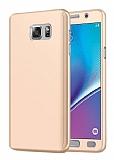 Eiroo Protect Fit Samsung Galaxy Note 5 360 Derece Koruma Gold Rubber Kılıf