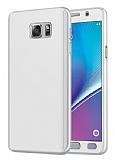 Eiroo Protect Fit Samsung Galaxy Note 5 360 Derece Koruma Silver Rubber Kılıf