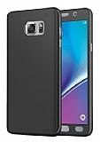 Eiroo Protect Fit Samsung Galaxy Note 5 360 Derece Koruma Siyah Rubber Kılıf
