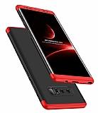 Eiroo Protect Fit Samsung Galaxy Note 8 360 Derece Koruma Siyah-Kırmızı Rubber Kılıf