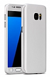 Eiroo Protect Fit Samsung Galaxy S6 360 Derece Koruma Silver Rubber Kılıf