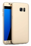 Eiroo Protect Fit Samsung Galaxy S6 Edge 360 Derece Koruma Gold Rubber Kılıf