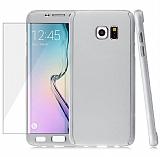 Eiroo Protect Fit Samsung Galaxy S6 Edge 360 Derece Koruma Silver Kılıf