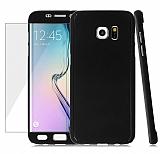 Eiroo Protect Fit Samsung Galaxy S6 Edge 360 Derece Koruma Siyah Kılıf